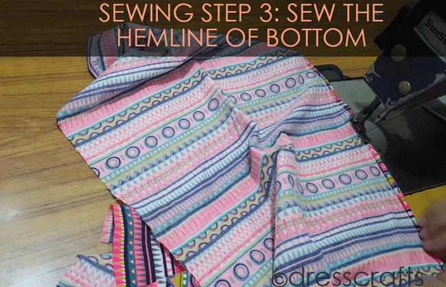 Simple Skirt Sewing Step 3