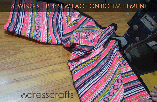 Simple Skirt Sewing Step 4