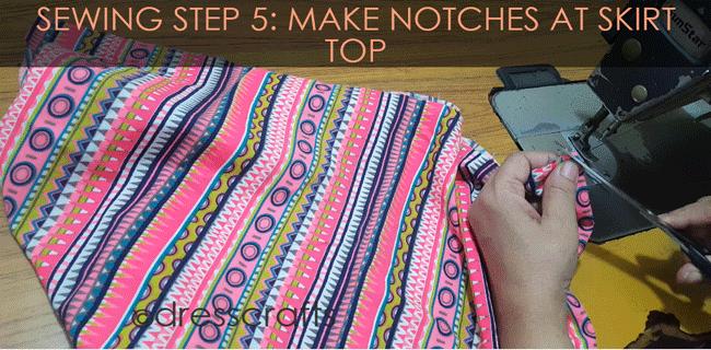 Simple Skirt Sewing Step 5