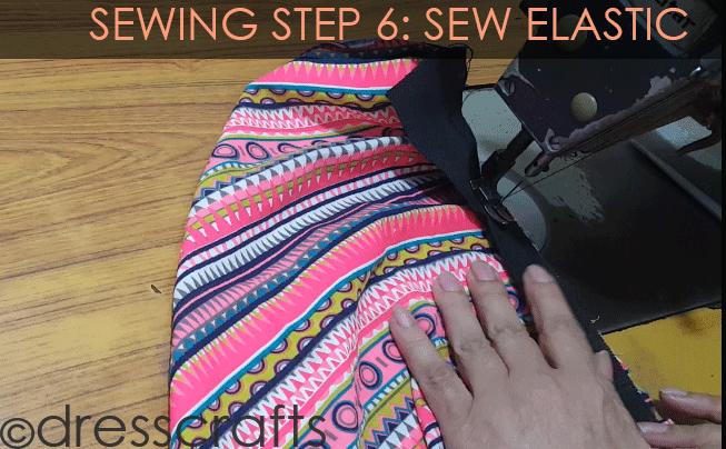 Simple Skirt Sewing Step 6
