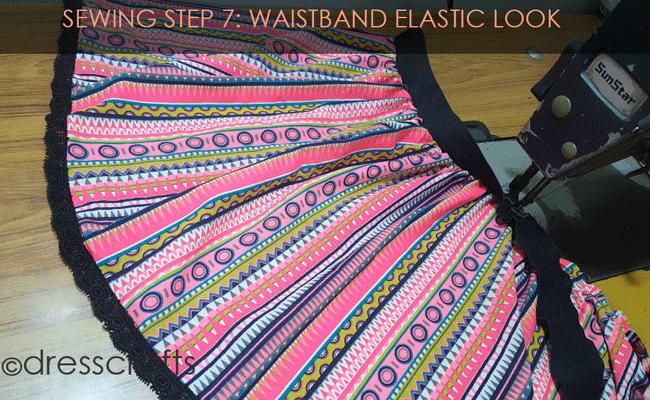 Simple Skirt Sewing Step 7