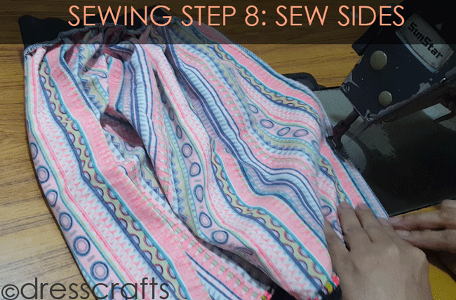 Simple Skirt Sewing Step 8