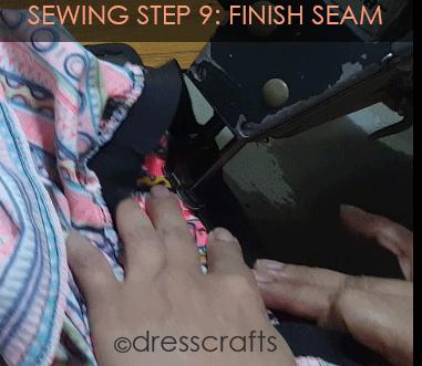 Simple Skirt Sewing Step 9