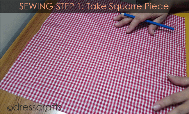 Sewing Sun hat: Step 1