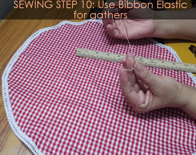 Sewing Sun hat: Step 10