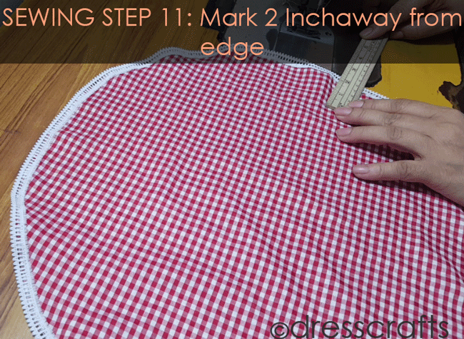 Sewing Sun hat: Step 11