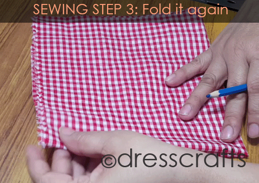 Sewing Sun hat: Step 3