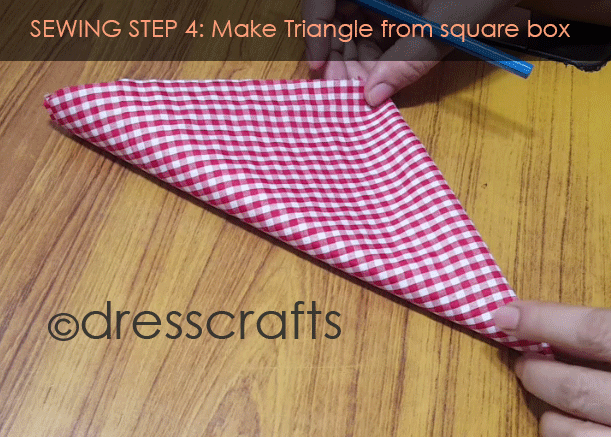 Sewing Sun hat: Step 4