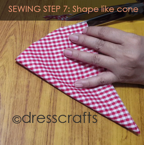 Sewing Sun hat: Step 7