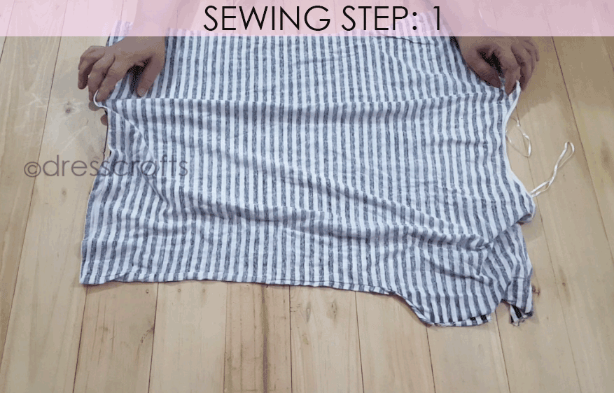 Convert Tshirt into Top - Sewing Step 1