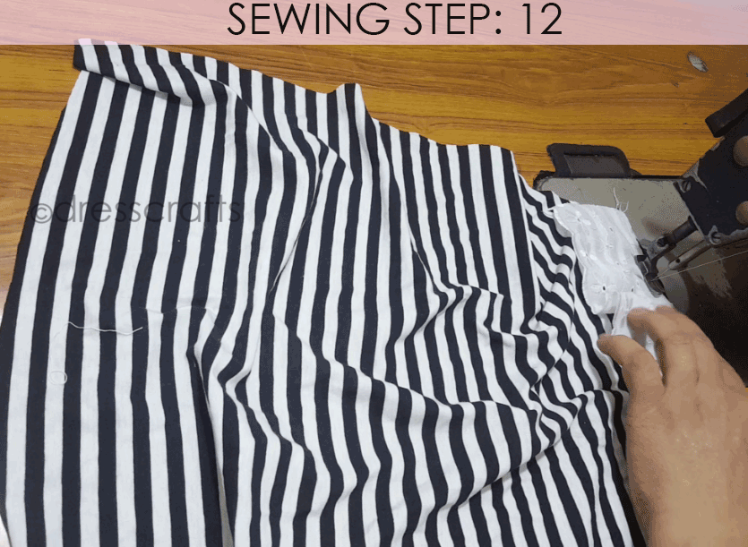 Convert Tshirt into Top - Sewing Step 12