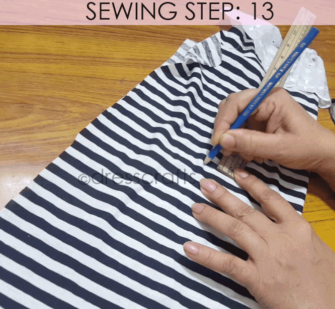 Convert Tshirt into Top - Sewing Step 13