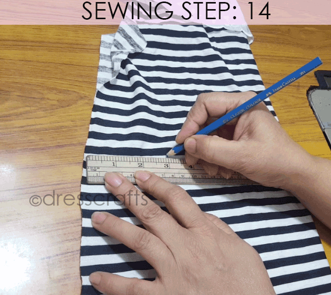 Convert Tshirt into Top - Sewing Step 14