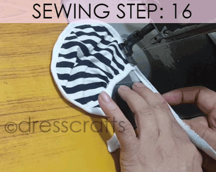 Convert Tshirt into Top - Sewing Step 16