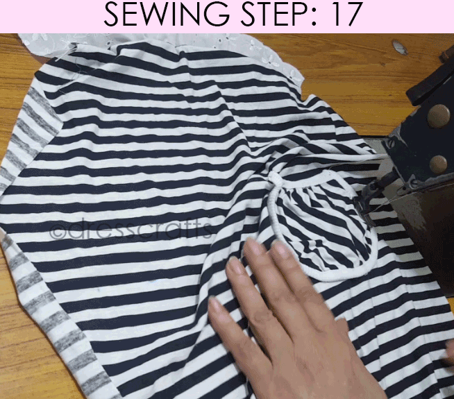 Convert Tshirt into Top - Sewing Step 17