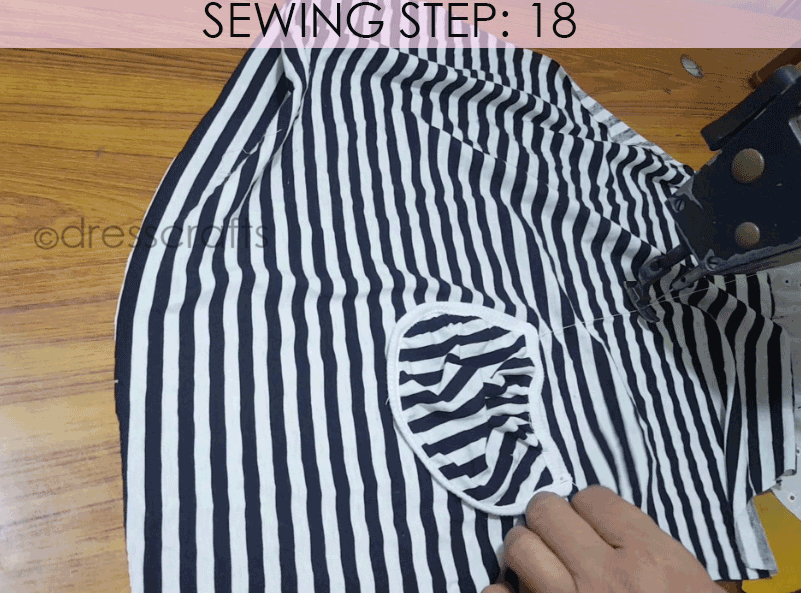 Convert Tshirt into Top - Sewing Step 18