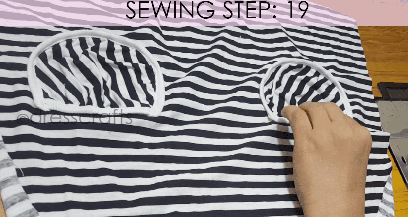 Convert Tshirt into Top - Sewing Step 19