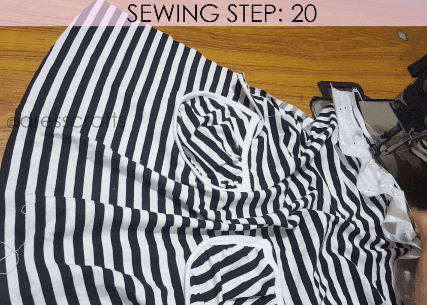 Convert Tshirt into Top - Sewing Step 20