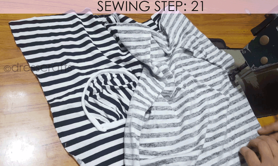 Convert Tshirt into Top - Sewing Step 21