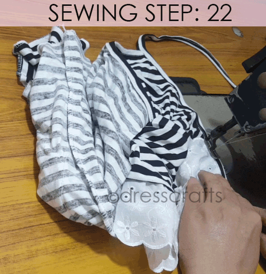 Convert Tshirt into Top - Sewing Step 22