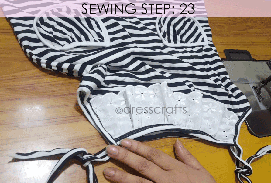 Convert Tshirt into Top - Sewing Step 23