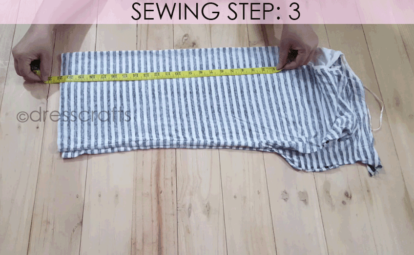 Convert Tshirt into Top - Sewing Step 3