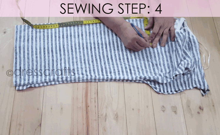 Convert Tshirt into Top - Sewing Step 4