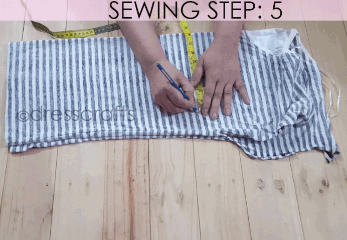 Convert Tshirt into Top - Sewing Step 5