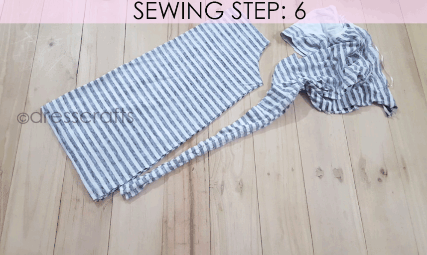 Convert Tshirt into Top - Sewing Step 6