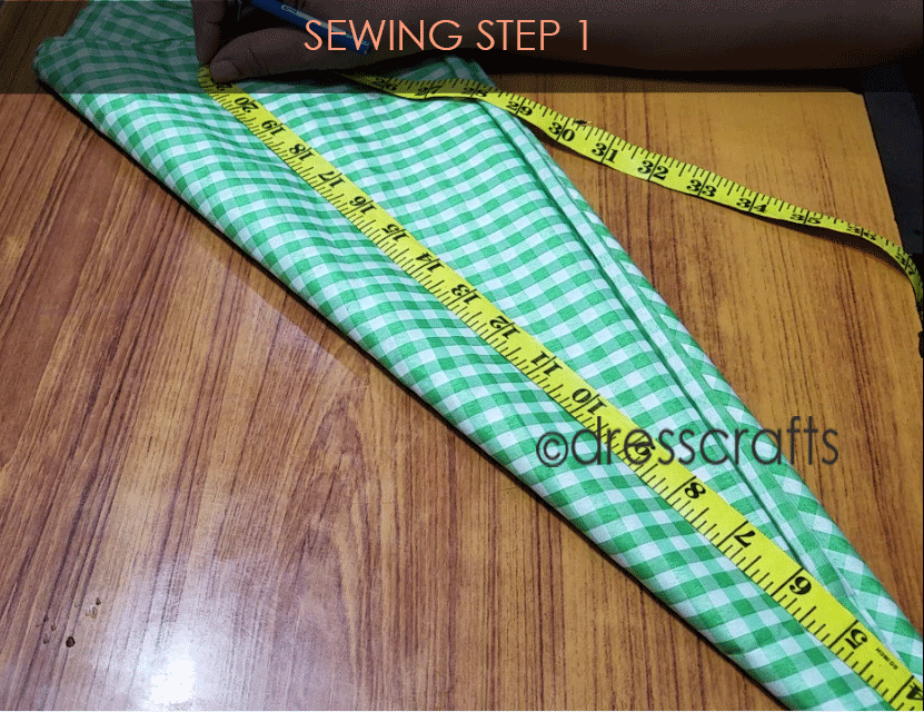 Flared Top sewing step 1