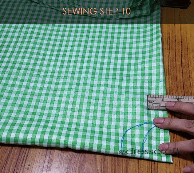 Flared Top sewing step 10