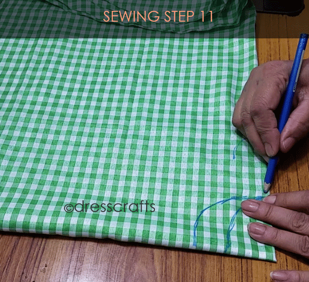 Flared Top sewing step 11