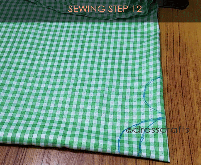 Flared Top sewing step 12