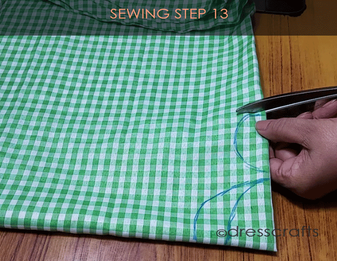 Flared Top sewing step 13