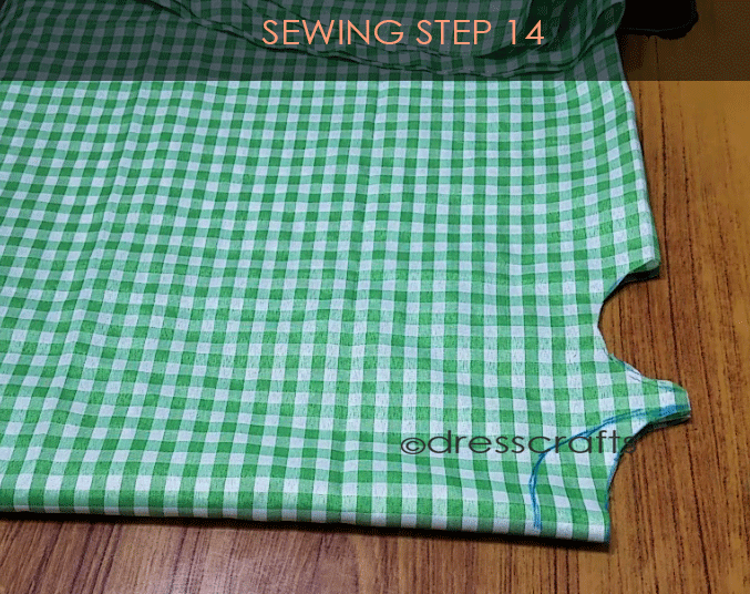 Flared Top sewing step 14