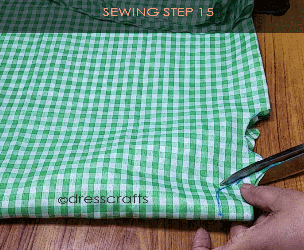 Flared Top sewing step 15