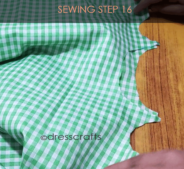 Flared Top sewing step 16