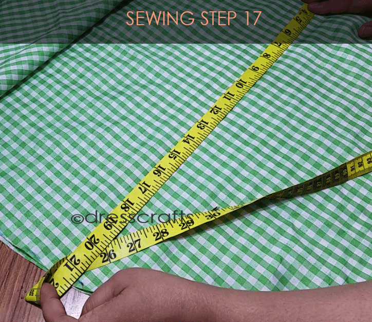 Flared Top sewing step 17
