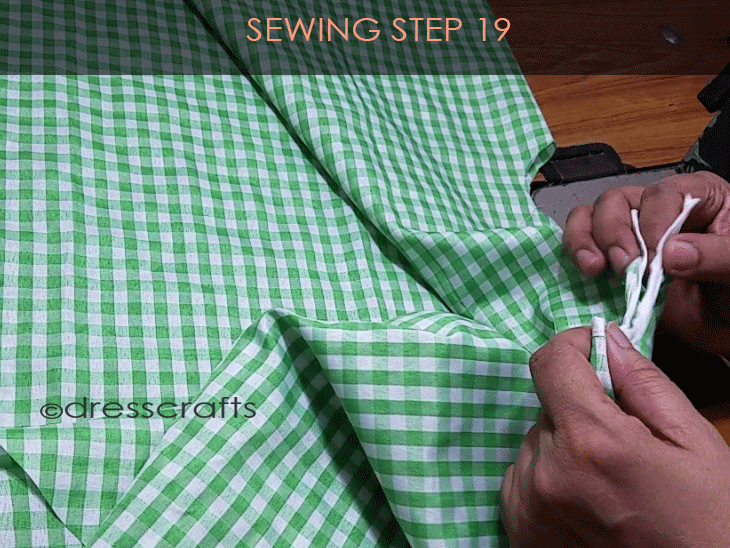 Flared Top sewing step 19