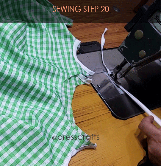 Flared Top sewing step 20