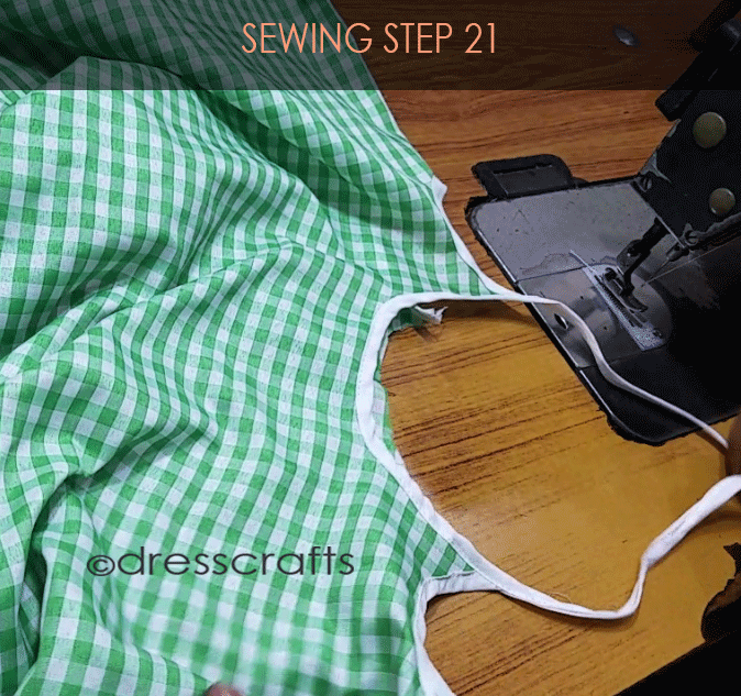 Flared Top sewing step 21
