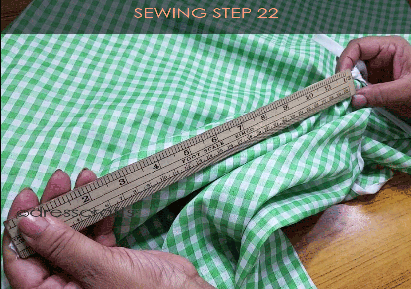 Flared Top sewing step 22