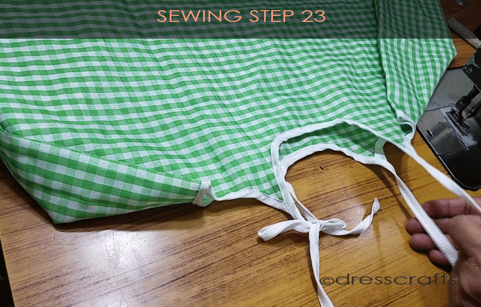 Flared Top sewing step 23