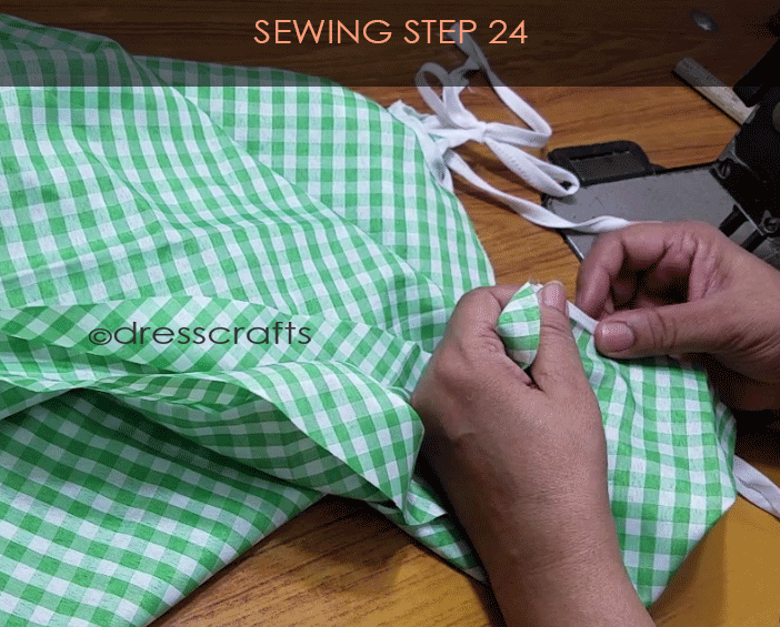 Flared Top sewing step 24