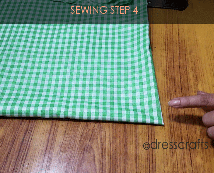 Flared Top sewing step 4
