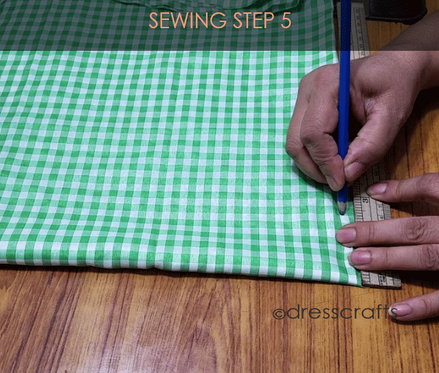 Flared Top sewing step 5