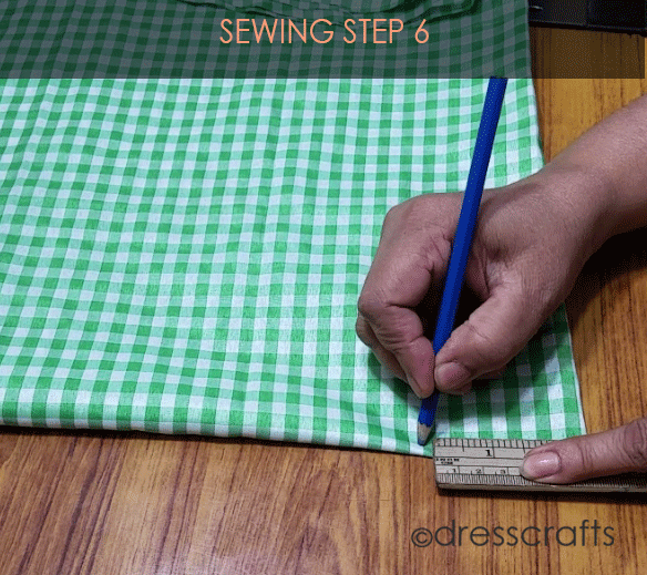 Flared Top sewing step 6