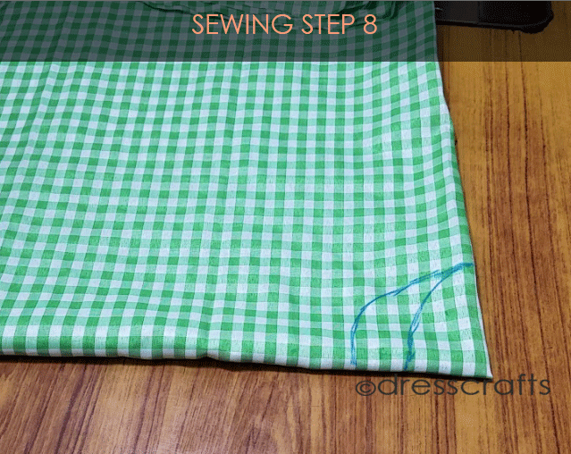 Flared Top sewing step 8