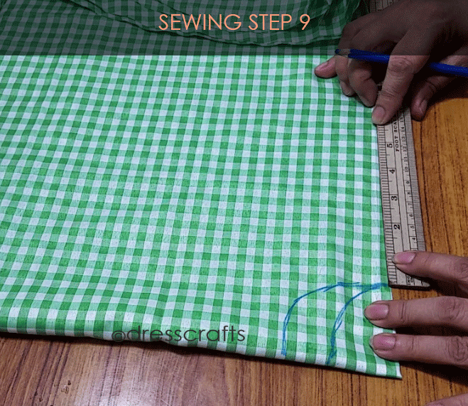 Flared Top sewing step 9