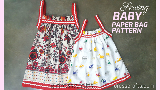 SEWING BABY PAPER BAG DRESS